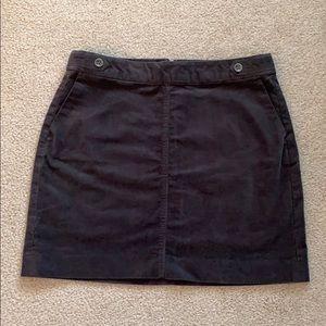 Banana Republic // Grey Corduroy Mini Skirt